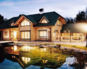 The eco-friendly building full of life - wooden house